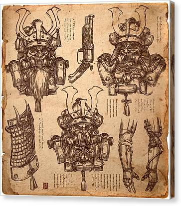 Steampunk Samurai Concept Canvas Print by James Ng
