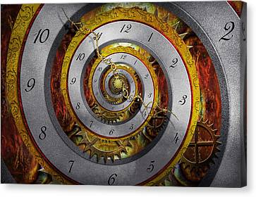 Personalized Canvas Print - Steampunk - Spiral - Infinite Time by Mike Savad