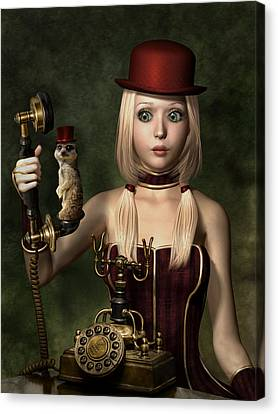 Steampunk Surprise Canvas Print by Britta Glodde