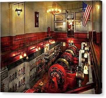 Steampunk - The Engine Room 1974 Canvas Print by Mike Savad