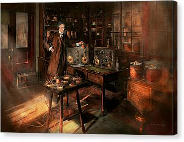 Steampunk - The Time Traveler 1920 Canvas Print by Mike Savad