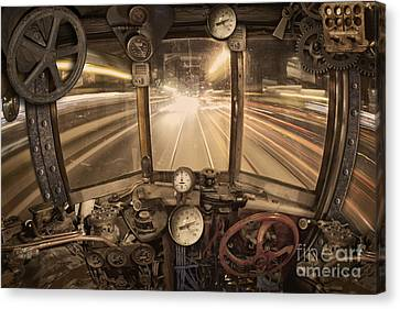 Steampunk Time Machine Canvas Print by Keith Kapple