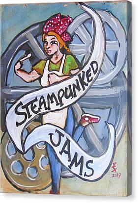 Steampunked Jams Canvas Print by Loretta Nash