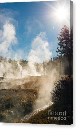 Steamy Sunrise Canvas Print by Birches Photography