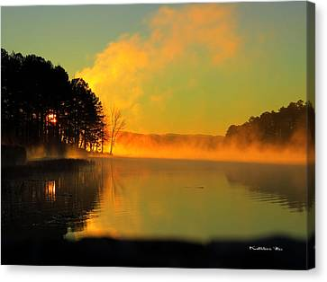 Steamy Sunrise Canvas Print