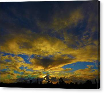 Canvas Print featuring the photograph Steamy Sunset by Mark Blauhoefer