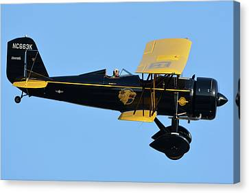 Stearman 4e Junior Speedmail Nc663k Chino California April 29 2016 Canvas Print by Brian Lockett