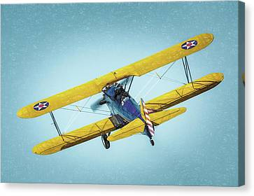 Canvas Print featuring the photograph Stearman by James Barber
