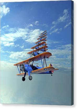 Stearman Canvas Print - Stearman Stack by Hangar B Productions