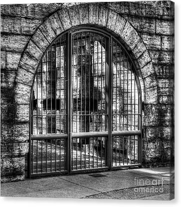 Steel And Stone 2 Bw Canvas Print by Mel Steinhauer
