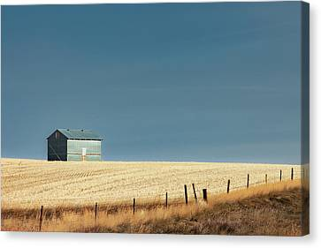 Steel Clad Shed Canvas Print by Todd Klassy