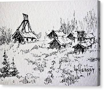 Steel Creek Mine Montana Canvas Print by Kevin Heaney