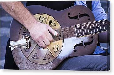 Steel Guitar Canvas Print by Steven Ralser