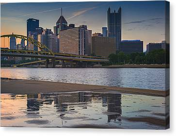 Steel Reflections Canvas Print by Rick Berk