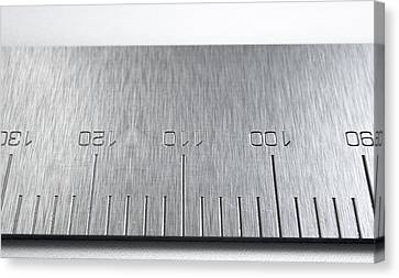 Steel Ruler Closeup Canvas Print