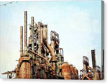Steel Stack Blast Furnaces Canvas Print