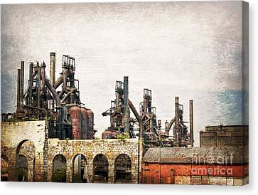Steel Stacks  Canvas Print
