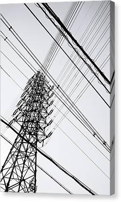 Steel Tower Canvas Print by Ebiq