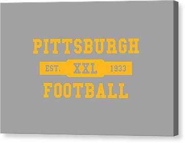 Steelers Retro Shirt Canvas Print by Joe Hamilton