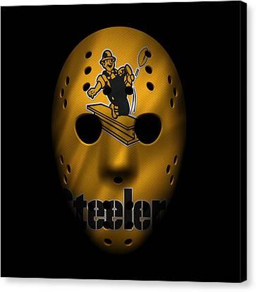 Steelers Canvas Print - Steelers War Mask 3 by Joe Hamilton