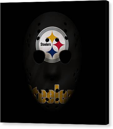 Steelers Canvas Print - Steelers War Mask by Joe Hamilton