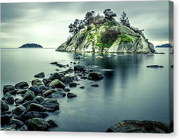 Steely Day At Whytecliff Canvas Print