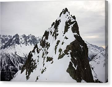 Steep Mountain Chamonix France Canvas Print by Pierre Leclerc Photography