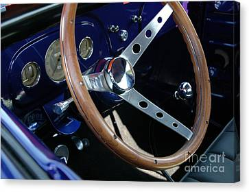 Steering Wheel And Dashboard - '36 Ford Truck Canvas Print
