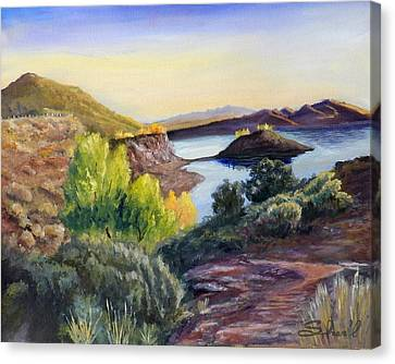 Canvas Print featuring the painting Steinaker by Sherril Porter