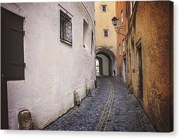 Lane Canvas Print - Steingasse Salzburg by Carol Japp
