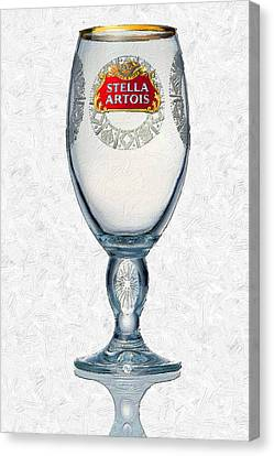 Stella Artois Chalice Painting Collectable Canvas Print by Tony Rubino
