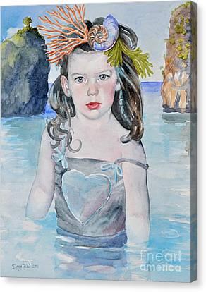 Stella Silver Mermaid Canvas Print by Kathryn Donatelli