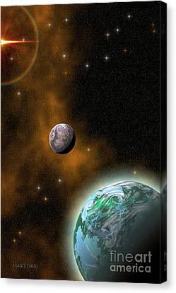 Stellar Smoke Ring Canvas Print by Corey Ford
