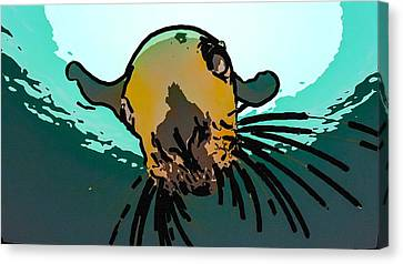 Hornby Island Canvas Print - Steller Sea Lion by Lanjee Chee