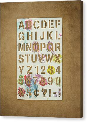 Stencil Alphabet Fun Canvas Print by Scott Norris