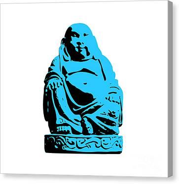 Stencil Buddha Canvas Print by Pixel Chimp