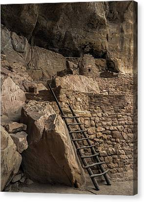 Step House Ladder Canvas Print by Joseph Smith