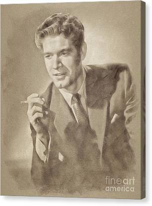 Stephen Boyd, Vintage Actor By John Springfield Canvas Print by John Springfield