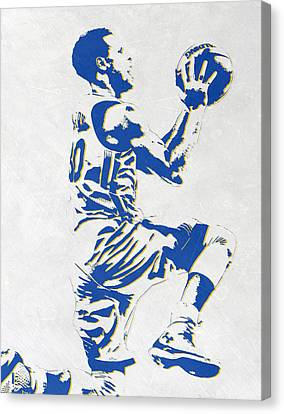 Free Canvas Print - Stephen Curry Golden State Warriors Pixel Art by Joe Hamilton