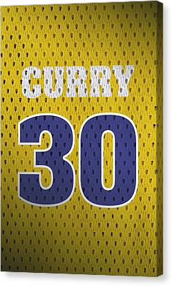 Stephen Curry Golden State Warriors Retro Vintage Jersey Closeup Graphic Design Canvas Print