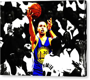 Stephen Curry Smooth As Ice Canvas Print