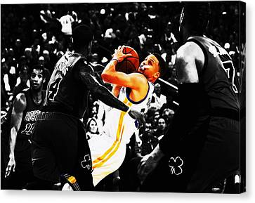 Stephen Curry Stay Focused Canvas Print