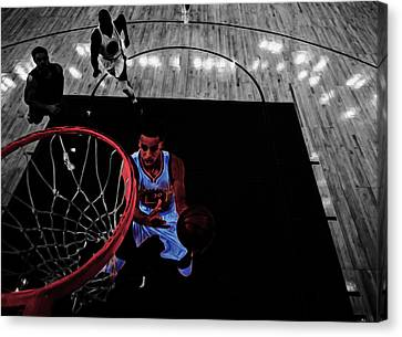 Stephen Curry Taking Flight Canvas Print by Brian Reaves