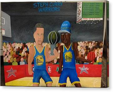 Stephen Curry Warriors Canvas Print by Brandon Crawford