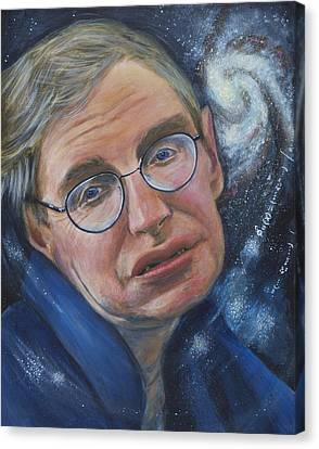 Stephen Hawking Canvas Print by Simon Kregar