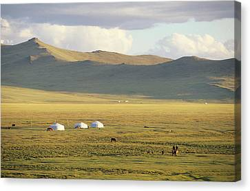 Steppeland Gers Yurts Canvas Print