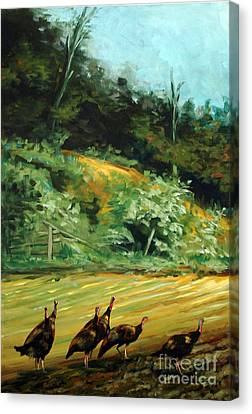 Canvas Print featuring the painting Steppin On New Ground by Suzanne McKee