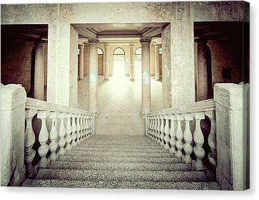 Stepping Down To Hallway Canvas Print by Svetlana Sewell
