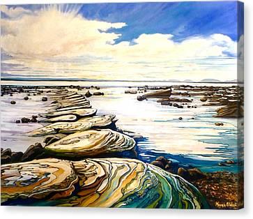 Hornby Island Canvas Print - Stepping Stones by Karen Elder