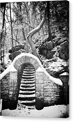 Wissahickon Canvas Print - Steps Along The Wissahickon by Bill Cannon